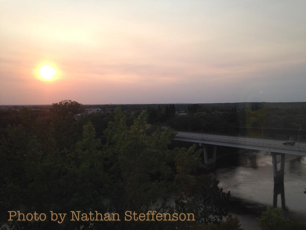 August 21 2015 orange sky
