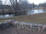 Milaca Riverview park stone wall